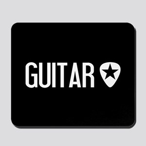 Guitarist: Guitar Pick & Black Star Mousepad