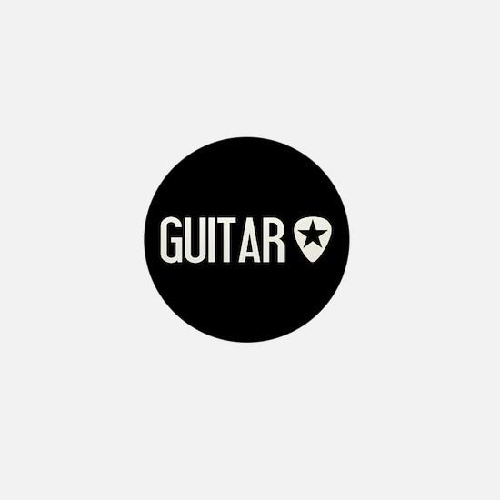 Guitarist: Guitar Pick & Black Star Mini Button