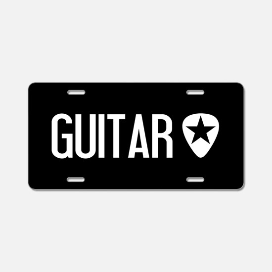 Guitarist: Guitar Pick & Bl Aluminum License Plate
