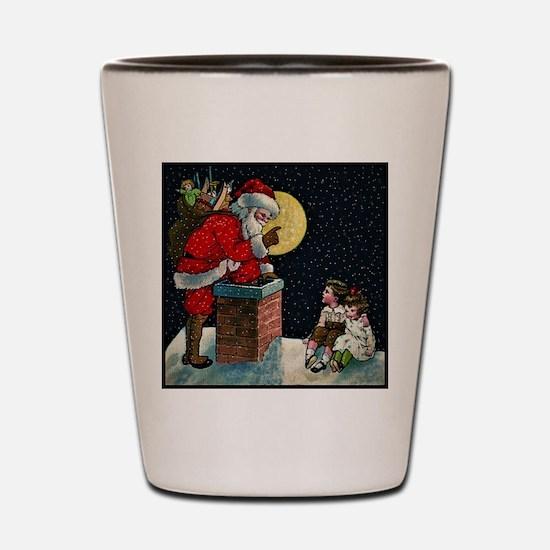 Waiting for Santa Shot Glass