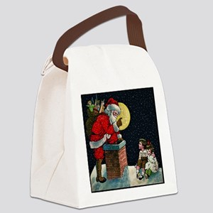 Waiting for Santa Canvas Lunch Bag