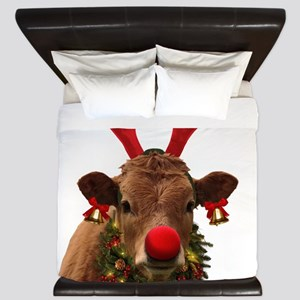 Christmas Cow King Duvet