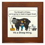 I Bought A Sheep Framed Tile