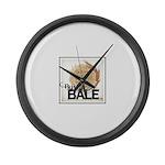 Buy A Bale (Border) Large Wall Clock