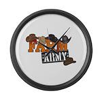 Farm Army Large Wall Clock