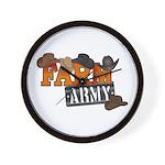 Farm Army Wall Clock