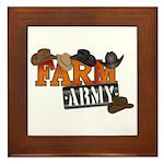 Farm Army Framed Tile