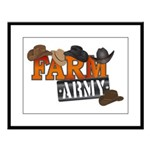 Farm Army Large Framed Print