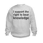 The Right To Bear Knowledge Kids Sweatshirt