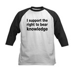 The Right To Bear Knowledge Kids Baseball Jersey