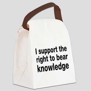 The Right To Bear Knowledge Canvas Lunch Bag
