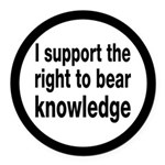 The Right To Bear Knowledge Round Car Magnet