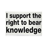 The Right To Bear Knowledge Rectangle Magnet