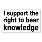 The Right To Bear Knowledge Sticker (Rectangle)