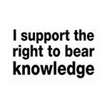 The Right To Bear Knowledge 35x21 Wall Decal