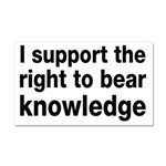 The Right To Bear Knowledge Car Magnet 20 x 12