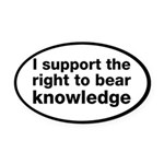 The Right To Bear Knowledge Oval Car Magnet