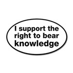The Right To Bear Knowledge 20x12 Oval Wall Decal