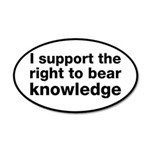 The Right To Bear Knowledge 35x21 Oval Wall Decal