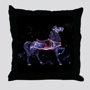 Star Carousel Horse Throw Pillow
