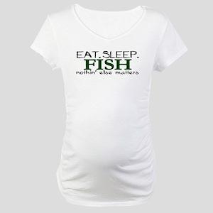 Eat Sleep Fish Maternity T-Shirt