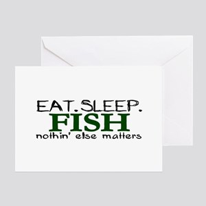 Eat Sleep Fish Greeting Card