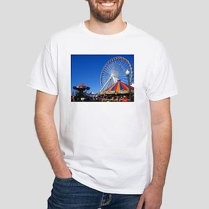 Navy Pier, Chicago White T-Shirt