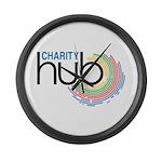 Charity Hub Large Wall Clock