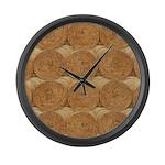 Hay Bale Large Wall Clock