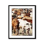 A Herd of Cattle Framed Panel Print