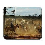 Herding Cattle Mousepad