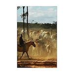 Herding Cattle Mini Poster Print
