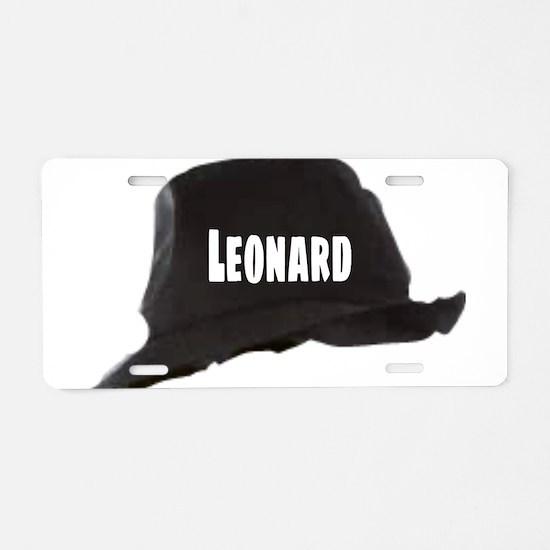 Leonard Aluminum License Plate