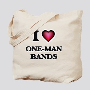 I love One-Man Bands Tote Bag