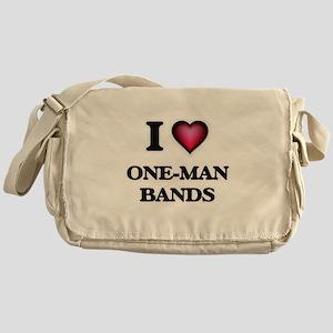I love One-Man Bands Messenger Bag