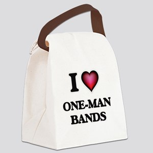I love One-Man Bands Canvas Lunch Bag