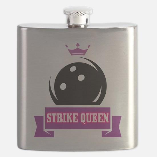 Bowling Strike Queen Flask