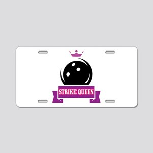 Bowling Strike Queen Aluminum License Plate