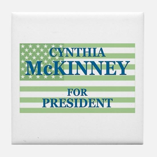 Cynthia McKinney Tile Coaster