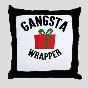 Gangsta Wrapper Throw Pillow