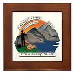 I Bought A Sheep Mountain Framed Tile