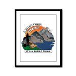 I Bought A Sheep Mountain Framed Panel Print