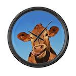 Selfie Cow Large Wall Clock