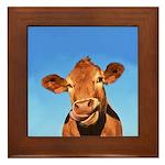 Selfie Cow Framed Tile