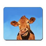 Selfie Cow Mousepad