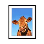 Selfie Cow Framed Panel Print