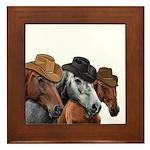 Cowboy Horses Framed Tile