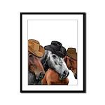 Cowboy Horses Framed Panel Print