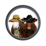 Country Couple Wall Clock