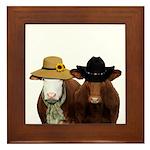 Country Couple Framed Tile